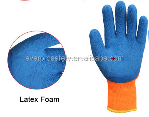 Latex foam coated work gloves for hand protective