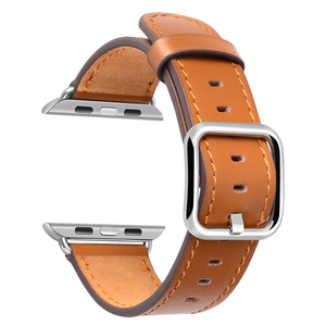 Factory Price OEM ODM Watch Band Strap 38mm 42mm Genuine Leather Watch Band for Apple Watch