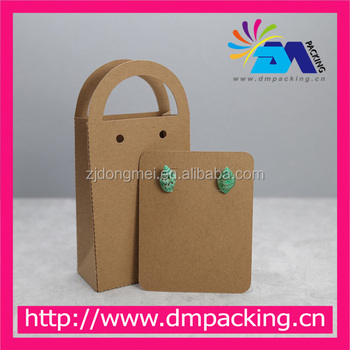 Purse Shaped Cardboard Earring Cards With Handle Bag