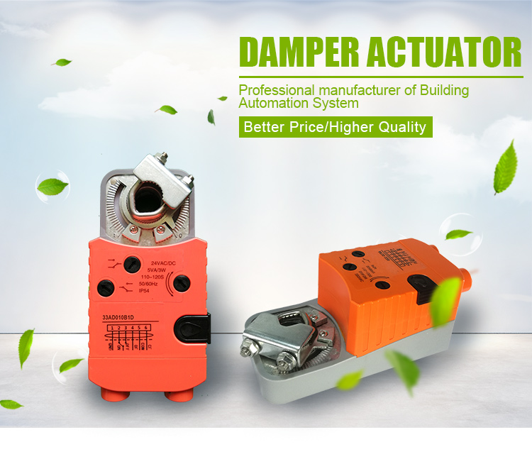 Low Cost Electric Damper Actuator Hvac With On Off - Buy