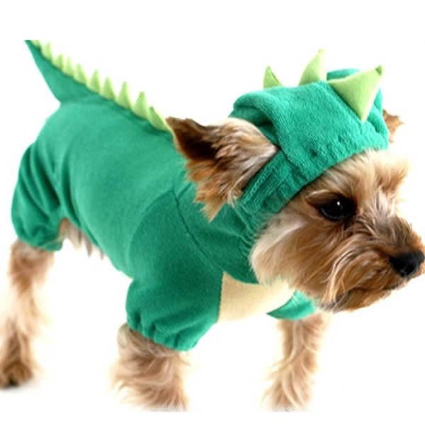 3f2c24a6511 Get Quotations · Green DINOSAUR Dog Pet Halloween Costume XS S M L XL Pet  Dogs Coat