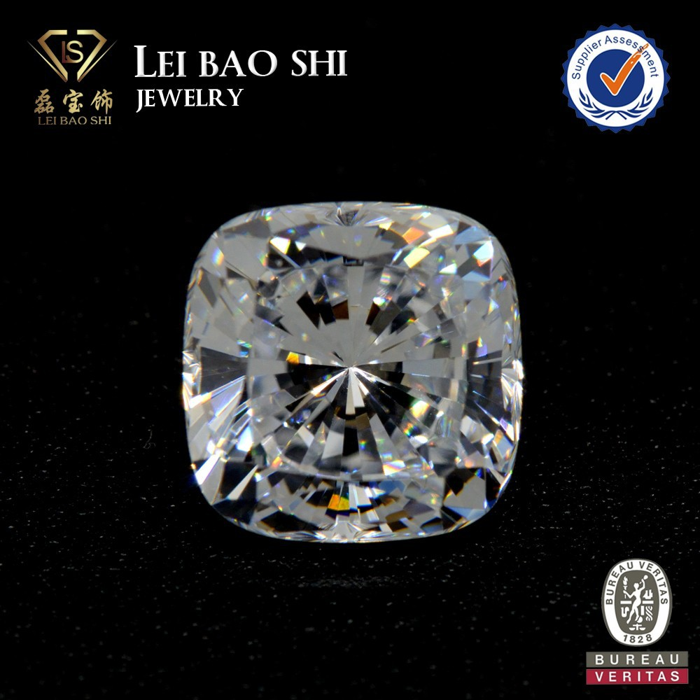 AAA grade Korean machine cut White special square cushion cut faceted gem stone Cubic Zirconia