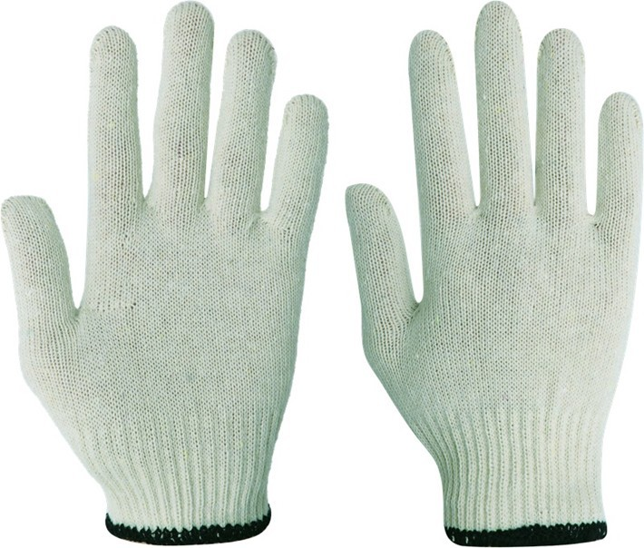 seamless knitted ladies white cotton gloves