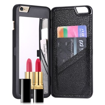 Cheapest Funky Newest Mirror Case With Card Holder Pc Leather Phone