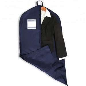 Luxury Convertible Black Polyester Dress Suit Cover Garment Bag