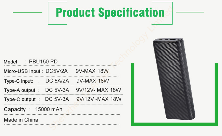 external backup battery 15000mAh ,LED torch light portable power bank 15000 mAh ,USB charger power bank
