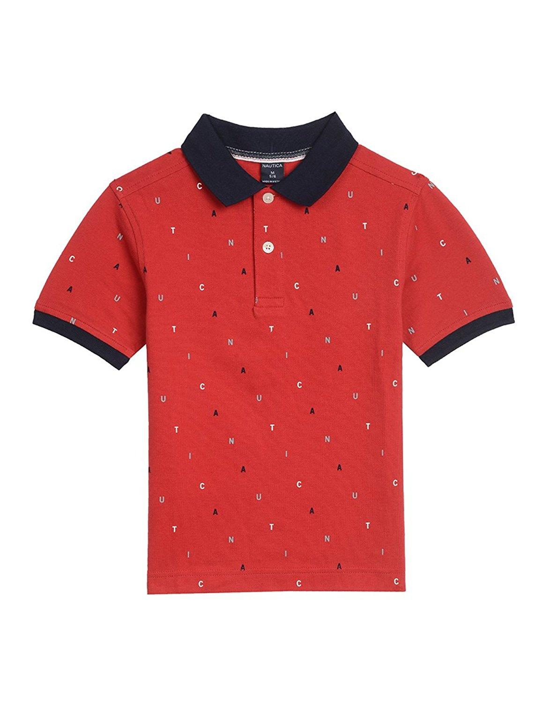 e5c3644e3 Get Quotations · Nautica Boys  Short Sleeve Printed Polo Shirt