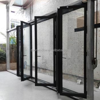 Thermal Break Aluminum 8 Panels Lowes Bi Fold Outdoor Bi Folding Door