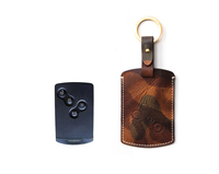 Top Quality Key Chain Cover Case Fob Remote Leather Car Key Case for Renault