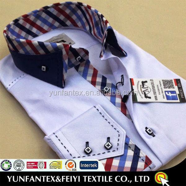 hombres moda algodón fabrica para los cuello última barato 100 Italia camisa 2019 de w47S5x