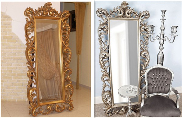 494049122d5cf Baroque Style Hotel Antique Large Floor Standing Mirror - Buy Stand ...