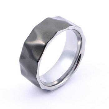 0789a3f064fe De moda de martillo Rock para hombre anillos de carburo de tungsteno de  acero de Damasco