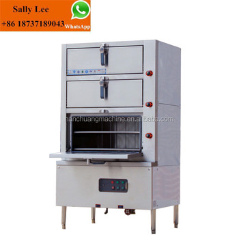 Three Door Energy Slightly Steam Cabinet For Kitchen Equipment And Hotel/  Food Steamer Cooker/