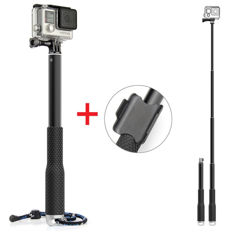 "QIUNIU 37"" Extension Monopod Waterproof Handheld Pole Selfie Stick For Go Pro Hero 6 5 4 3+ Session"