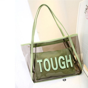 made in china women handbags 2018 new models pvc beach bag 54a017db7c6e