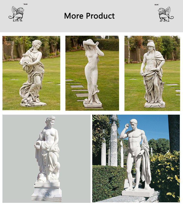 hot sale yard garden decorative life size marble male nude carving stone David statue sculpture MSL-060