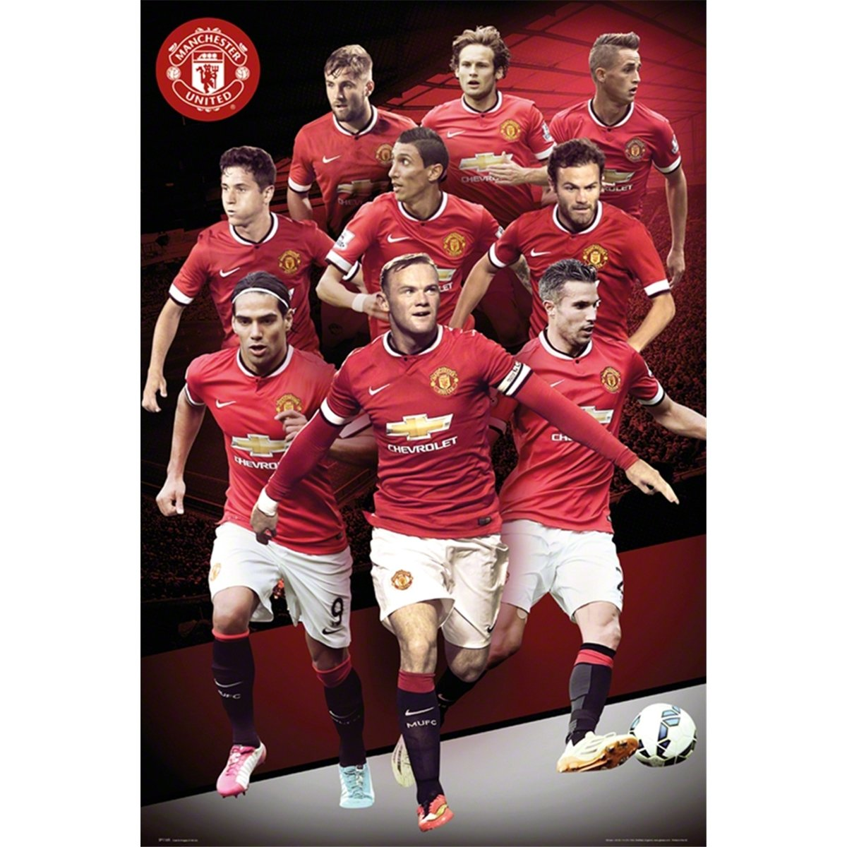 abffed9bcda7 Manchester United Player Collage 2014-2015 24