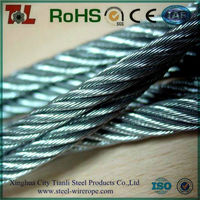 7*7 7*19 galvanized steel cable,galvanized aircraft cable