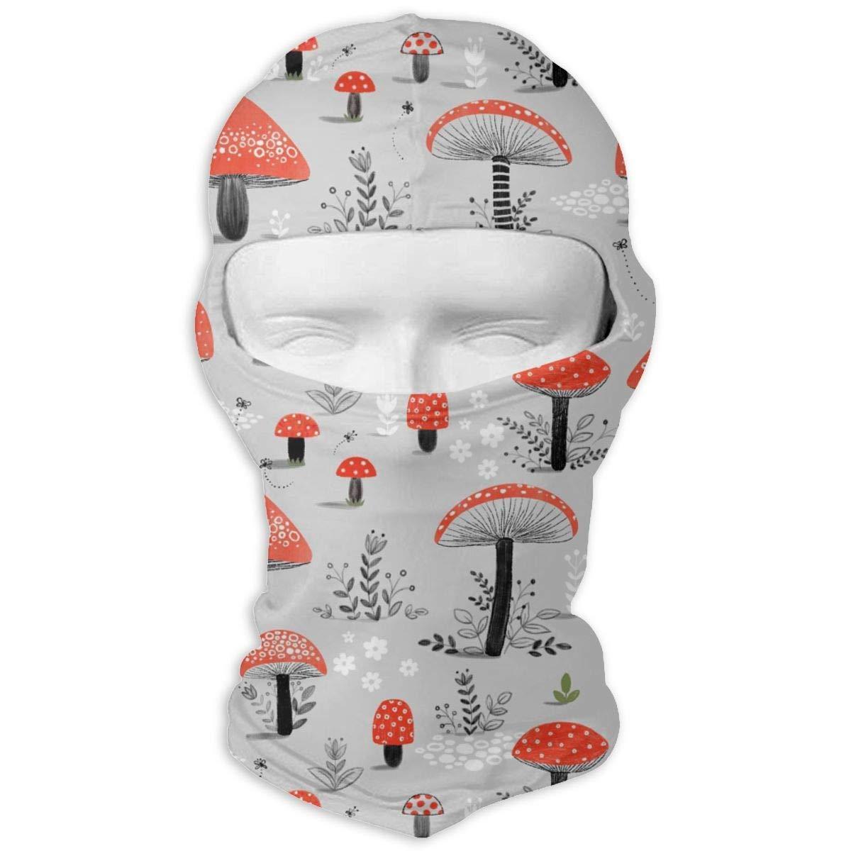 LJBBJL1 Mushroom Plants Balaclava Face Mask Hood Outdoor Sport Hat for Ski,Cycling,Motorcycling,Climbing