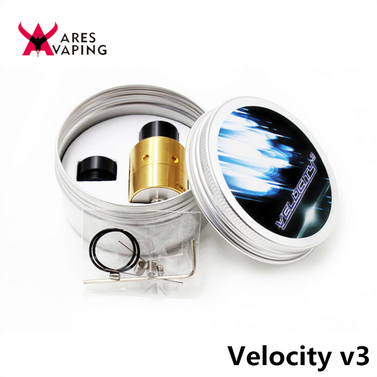 Fast delivery mechanical mod philippines atomizer device velocity v3 rda / velocity v3 atomizer 1:1 clone from Aresvaping