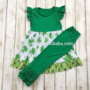 Persnickety Kids Boutique Outfits Wholesale Children's ST Patricks Day Girl Clothing
