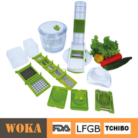multi function salad tools all in 1 vegetable cutter with salad spinner mincer bowl and hand juicer manual food chopper
