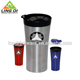 Button cover stainless steel tumbler heated auto coffee mug