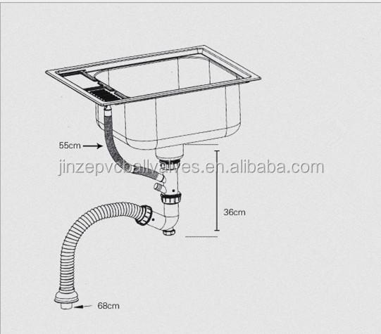 Anti Corrosion Kitchen Sink Waste Pipe - Buy Sink Waste Pipe ...