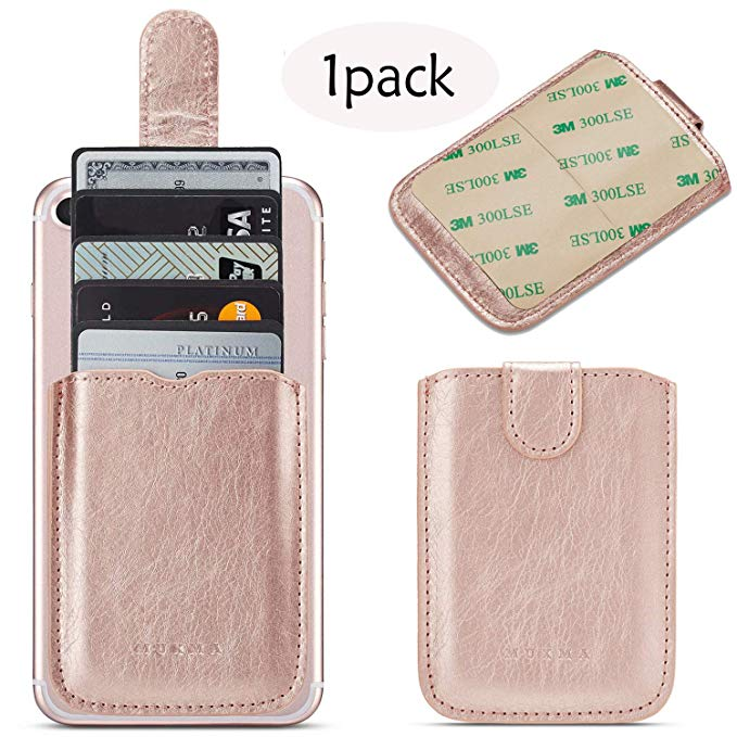 <strong>Phone</strong> <strong>Cell</strong> RFID Card ID Holder Adhesive <strong>Phone</strong> <strong>Pocket</strong> for iPhone XS MAX Android and All Smartphones