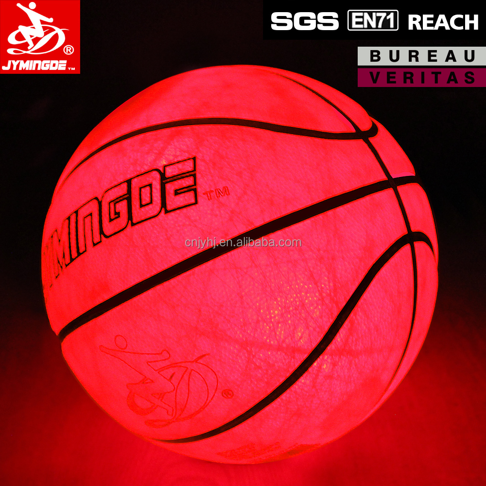 Glow in dark light up LED basketball with high grip