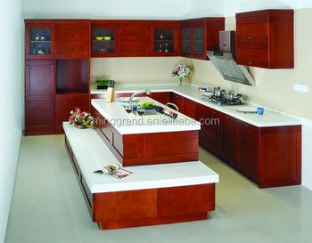 American style frameless structure kitchen cabinet buy for Kitchen set environment variables