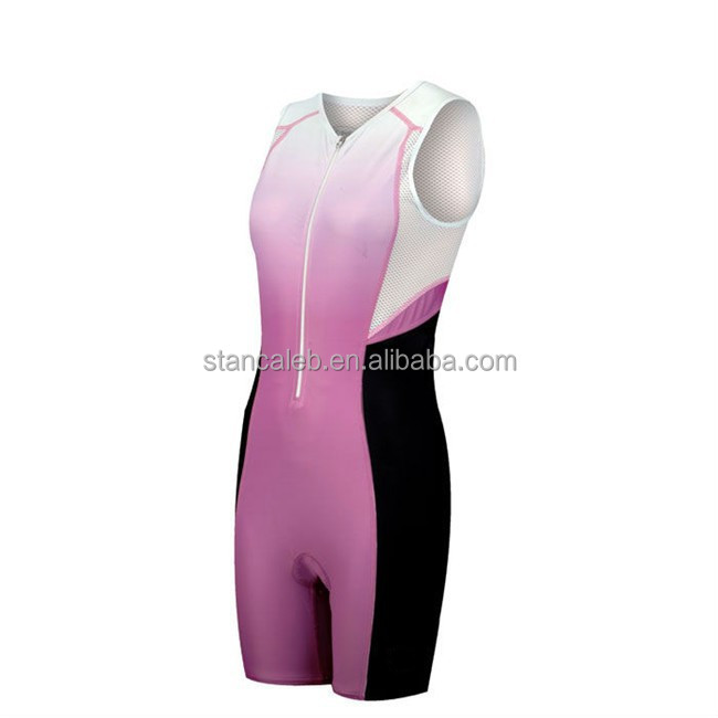 Triathlon apparel manufacturer Custom logo trisuit design small order women triathlon suit