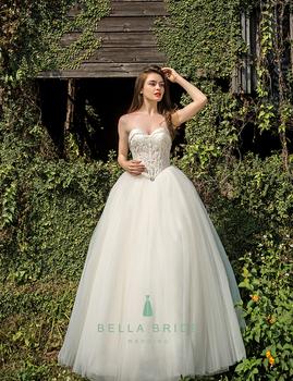 Decent Cinderella Ball Gown Dress Simple White Wedding Dress - Buy ...