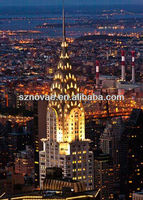 New York Building Tower Canvas Picture LED