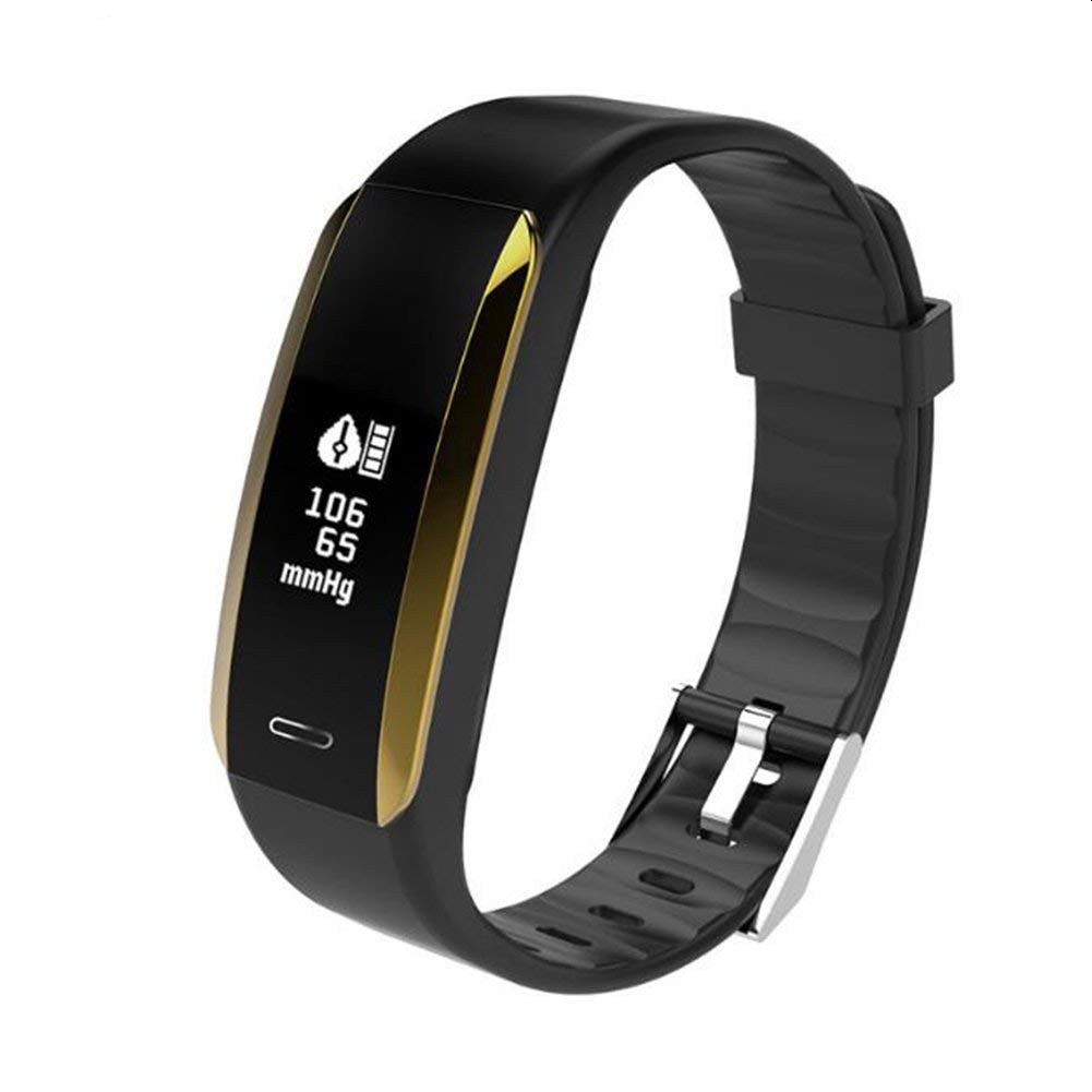 LIRONG Smart Bracelet, Fitness Tracker, Blood Pressure, Heart Rate Monitor, Bluetooth Sports, Healthy Wear Applies To ANDROID,Ios,Black