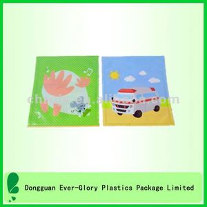Square Shaped Cute PVC Printing Mini Kids Sitting Mats