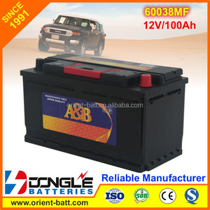 Factory Wholesale Good Quality Car Battery low Price 60038MF L5
