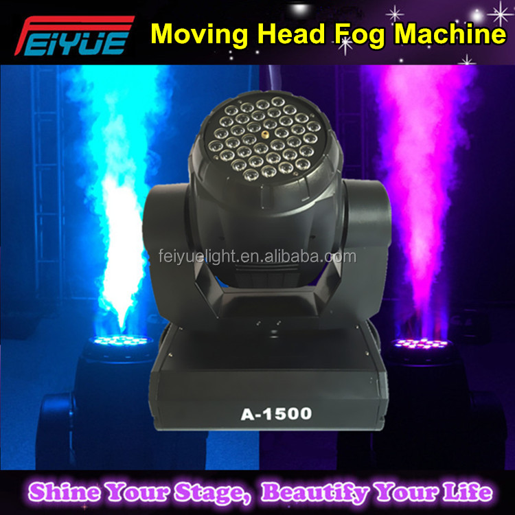 2016 Innovative New Products Factory Sale 1500W 36PCS*1W RGB Colorful LED Moving Head Fog Machine