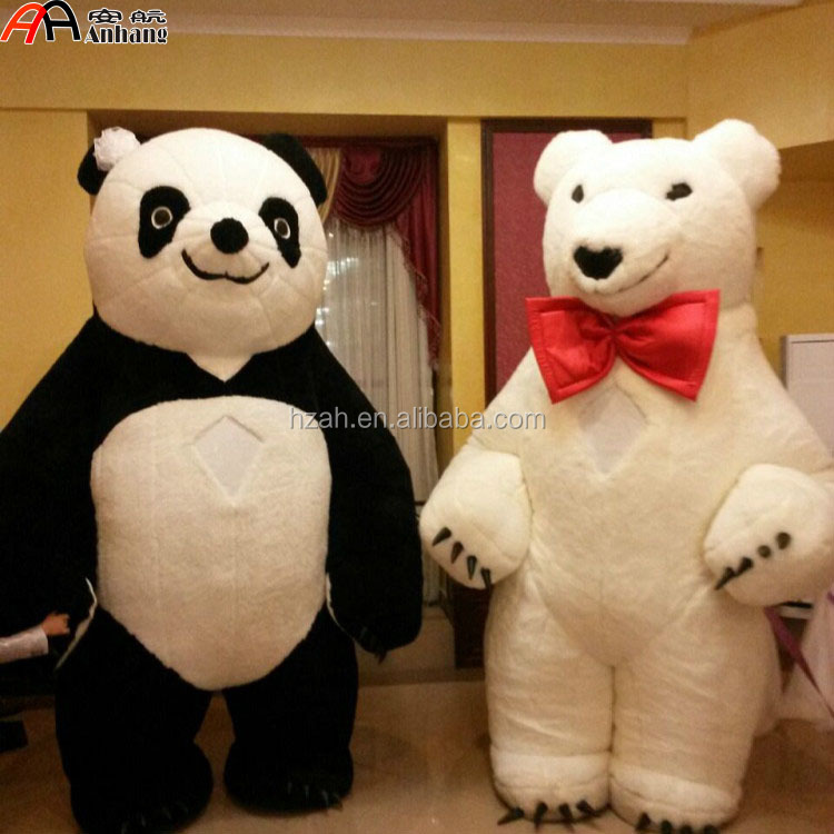 Parade Decoration Inflatable Panda And White Bear Cartoon Costumes