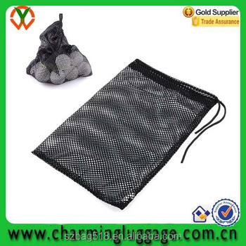 nylon mesh nets packaging golf tennis ball bag wholesale