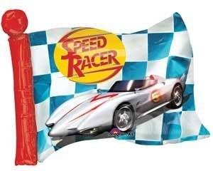 """Single Source Party Supplies - 27"""" Speed Racer Flag Mylar Foil Balloon"""