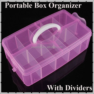 Clear Portable Plastic Kids DIY Tool Toys Organizer Divider Box Cosmetic Makeup Storage boxes