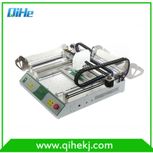 Small mini size desktop Automatic PCB,LED,SMT Machine pick and place machine 0402,0606,0805,SOP8,QFN QIHE TVM802D