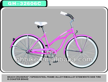 "26"" Single Speed Beach Cruiser Bike bicycle cheap price"