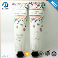 100ml hand lotion cream aluminum collapsible cosmetic tube,custom packing carton tube printed