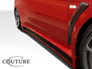 2008-2014 Mitsubishi Lancer Evolution 10 Couture C-Speed Side Skirts Rocker Panels - 2 Piece