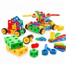 Stem learning educational construction engineering building blocks bricks builder gift toy game kit for kids boys girls