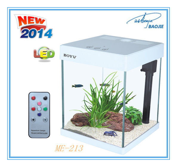 Moderne magic LED aquarium Tafel Mini Aquarium met interne filter systeem