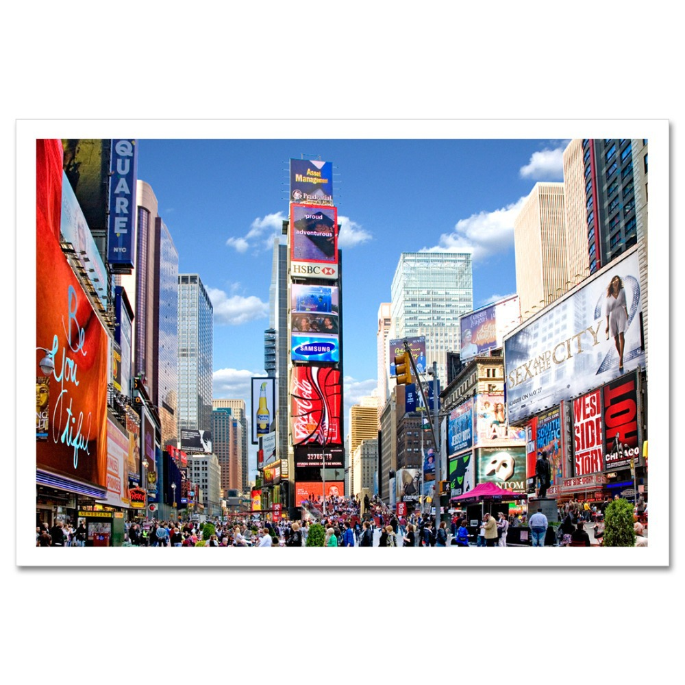 Designart New York City Skyline Panorama 5 Piece Wall: Popular Nyc Wallpaper-Buy Cheap Nyc Wallpaper Lots From