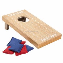 Mini Tabletop Football Cornhole Game Bean Bag Toss Game - Includes 6 Bean Bags!
